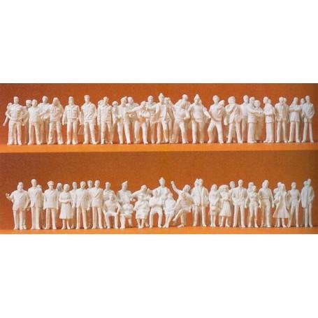 Preiser 74090 Omålade figurer, 190 st