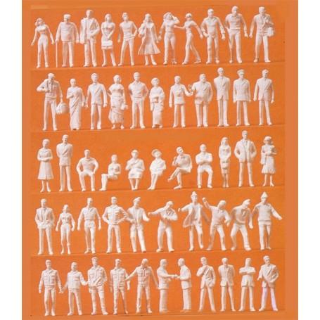 Preiser 80990 Blandade figurer, omålade vita, 190 st