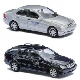"Busch 49938 Set Mercedes Benz C-Klasse Limousine / Mercedes Benz T-Modell ""THW"""