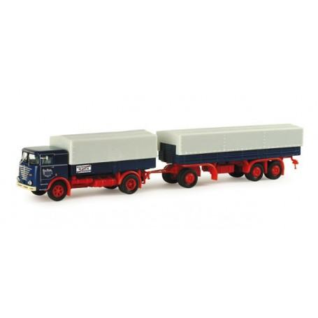 "Herpa 155106 Buessing LU 11/16 canvas trailer ""Tenholte shipping company"""