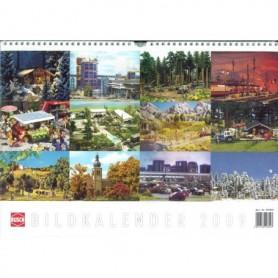 Busch 999820 Almenacka/Kalender 2009 Busch, 12 st motiv, klockren på väggen!