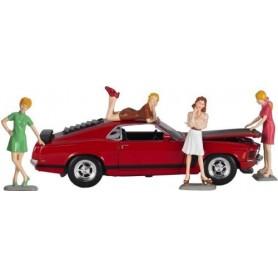 "Motorhead 853 Figurer ""Sixties Sweeties"" 4 figurer för skala 1:24 samlarbilar"