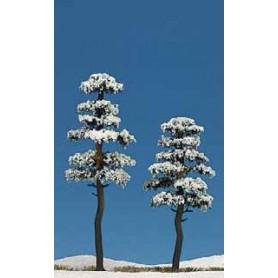 Busch 6155 Tallar täckta i snö, 2 st, 130/160 mm höga