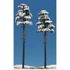Busch 6156 Tallar täckta i snö, 2 st, 195/210 mm höga