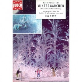 "Busch 1225 Dekorationsset för vinterlandskap ""Winter Fairy Tale Set"""