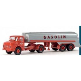 """Brekina 47404 MB LS 322 Tanktrailer """"Gasolin"""""""