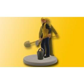 Viessmann 5112 Rälsarbetare med skyffel med rörlig arm