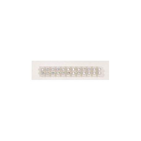 Beli-Beco 5388 Sockerbitslist, vitplast, 12-polig, 95 x 15 x 12 mm