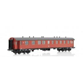 NMJ 220101 Personvagn SJ BCo7b 2:a/3:e klass 3499 med slätt tak 1940-tal
