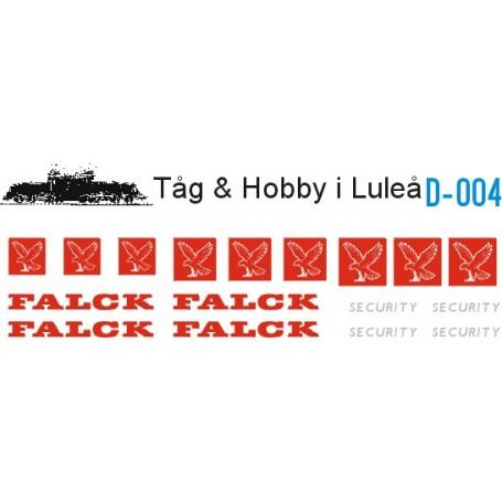Tåg & Hobby D004 Dekalark