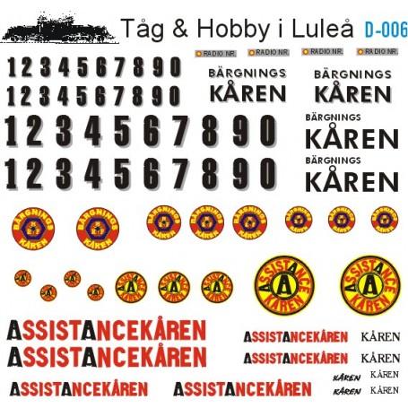 Tåg & Hobby D006 Dekalark