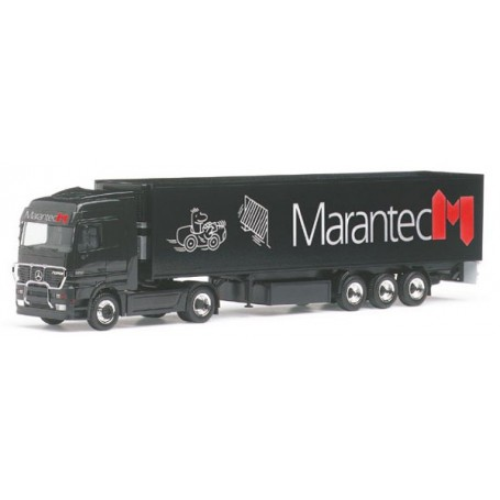 "Herpa 145404 MB Actros LH med skåptrailer ""Marantec"""