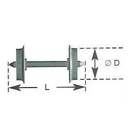 Liliput 39336 Hjulaxel, 2 st, AC, 9,0 mm hjuldiameter, längd 24,6 mm