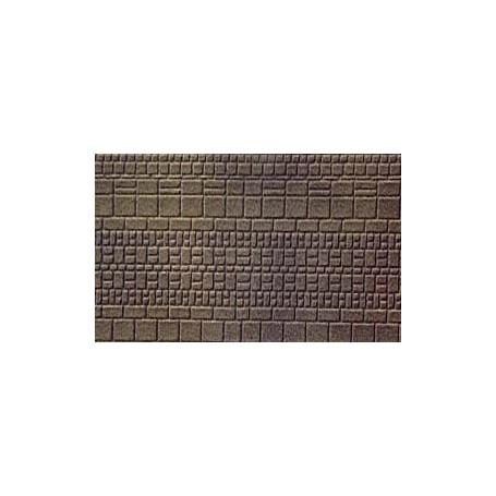 Merkur 301194 Murplatta, grå-rustik, murverk, styroplast, 12 x 50 cm