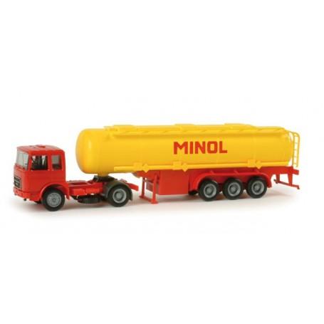 """Herpa 155731 Roman Diesel tank semitrailer """"Minol"""""""