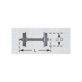 Liliput 49300 Hjulaxel, 2 st, DC, 7,5 mm hjuldiameter, längd 14,7 mm
