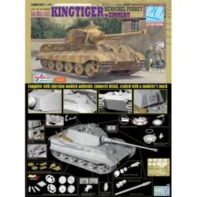 Dragon 6303 Tanks Sd. Kfz. 182 Kingtiger Henschel Turret med Zimmerit WWII
