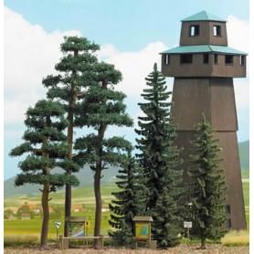 Busch 6393 Tallar/Granar, 8 träd totalt, Skogskit