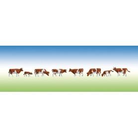 Faller 155507 Kossor, brun/vita, 8 st