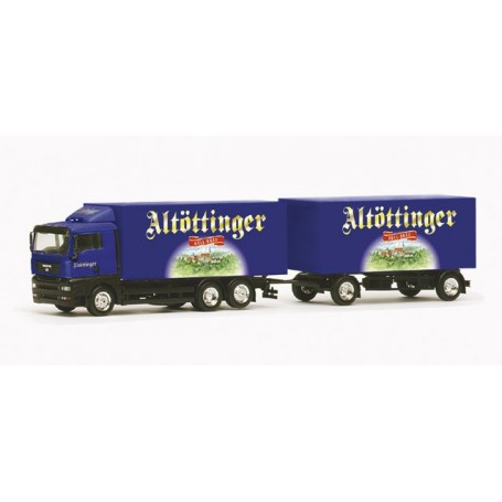 "Herpa 147736 MAN TGA XL box trailer ""Altoettinger"""