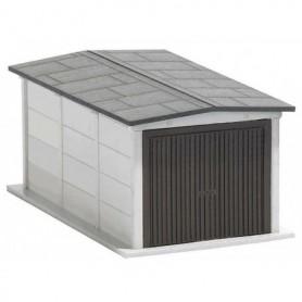 """Busch 1480 Garage, modell av ett Östtyskt """"standard"""" garage i betong"""