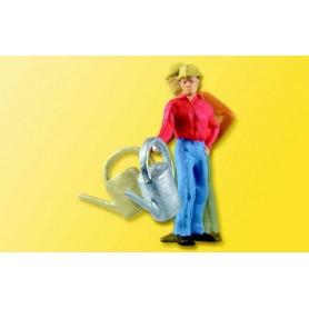 Viessmann 5126 Trädgårdsmästare med vattenkanna, rörlig figur