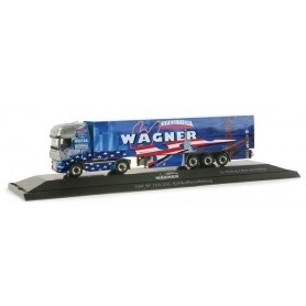 """Herpa 121248 DAF XF 105 SSC refrigerated box semitrailer """"Wagner"""""""