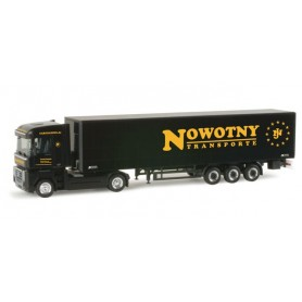 "Herpa 155915 Renault Magnum 08 curtain canvas semitrailer ""Nowotny"""