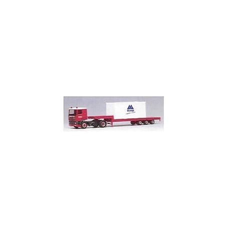 "Herpa 001291 DAF 95 Bil & Tungtransporttrailer ""Voort Trans"" lastad med container ""Myresjö - Superieur in Exterieur"""