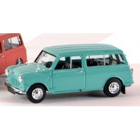 Brekina 15302 Austin Mini Countryman Kombi, pastellturkos, TD