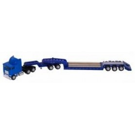 Promotex 6376 FLB Coe, Blue Heavy Equipment TRLR With Jeep