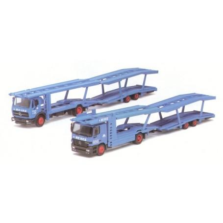 "Herpa 187565 MB Actros L Biltransport ""Menke"" och MB DB Biltransport ""Menke"""