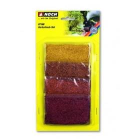 Noch 07168 Löv foliage set, höstfärger, 4 olika färger, gull, röd, rödbrun, höstorange
