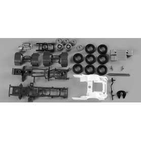 Herpa 082433 Chassis for tractor Scania R forward-stroke 3-axle Content: 2 pcs.