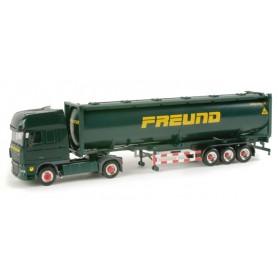 "Herpa 156578 DAF XF 105 SSC silo container semitrailer ""Freund"""