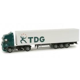 """Herpa 294720 DAF CF box semitrailer """"TDG"""" (NL)"""