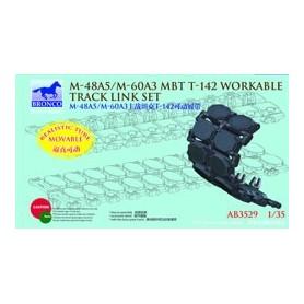 Bronco 3529 M-48A5/M-60A3 MBT T-142 Workable Track Link Set
