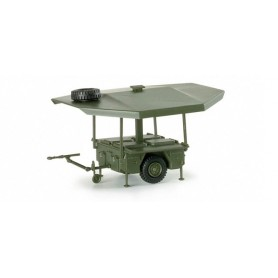 Herpa 740715 Kärcher field kitchen trailer