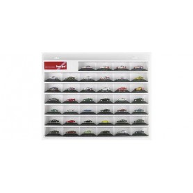 Herpa 055031 Display case for PC car models, white (22.4 in. x 17.7 in. x 2.6 in.)