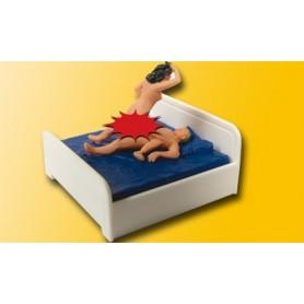 Viessmann 5004 Naket par i sängen, rörlig figur (kvinnan), drivs med 14-16V DC eller AC