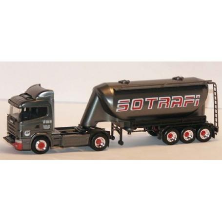"""Herpa 2646 Scania 124 L Bil & Tanktrailer """"Sotrafi"""""""