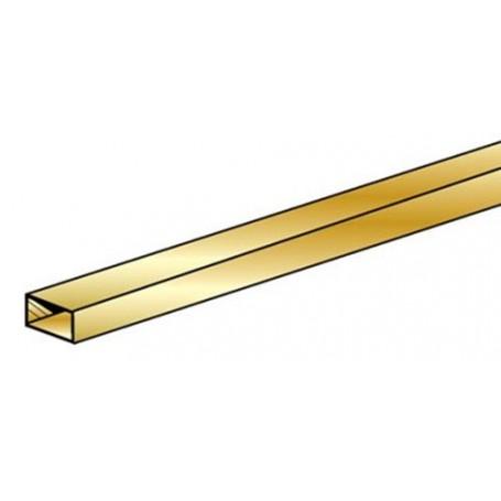 """K&S 264 Mässing rektangulär 1/8"""" 3.18 x 4.76 x 300 mm. 1 st"""