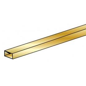 """K&S 268 Mässing rektangulär 3/16 x 3/8"""" 4.76 x 9.53 x 300 mm. 1 st"""