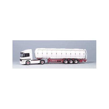 Herpa 3023 Mercedes Benz Bil & Tanktrailer, vit
