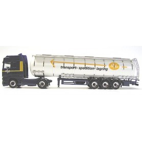 "Herpa Exclusive 3198 DAF 95 XF SSC Bil & Gofatank ""ASG - Transport - Spedition - Lagring"""