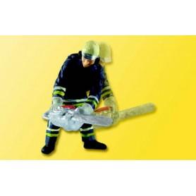 Viessmann 5141 Brandman med motorsåg, rörlig figur