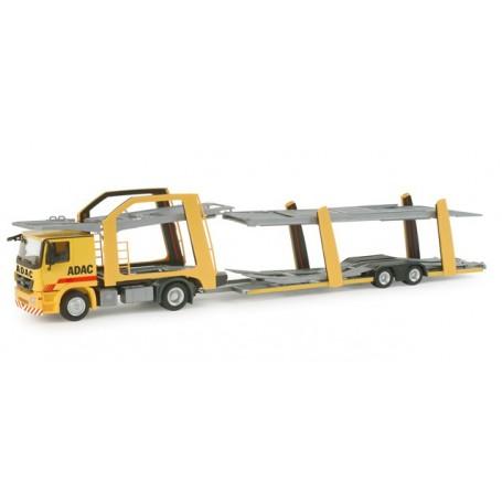 "Herpa 156837 Mercedes Benz Actros L car transporter trailer ""ADAC"""