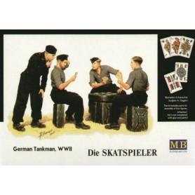 """Master Box 3525 Figurer German Tankman WWII """"Die Skatspieler"""", kortspelare"""