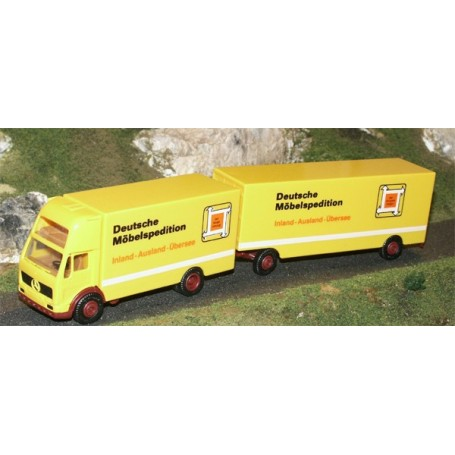 "Herpa 906324 MB DB Höghytt Bil & Släp Möbeltransport ""Deutsche Möbelspedition"""
