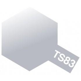 """Tamiya 85083 Sprayfärg TS-83 """"Metallic Silver"""", innehåller 100 ml"""